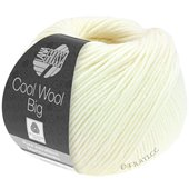 Lana Grossa COOL WOOL big uni/melange | 601-raw white