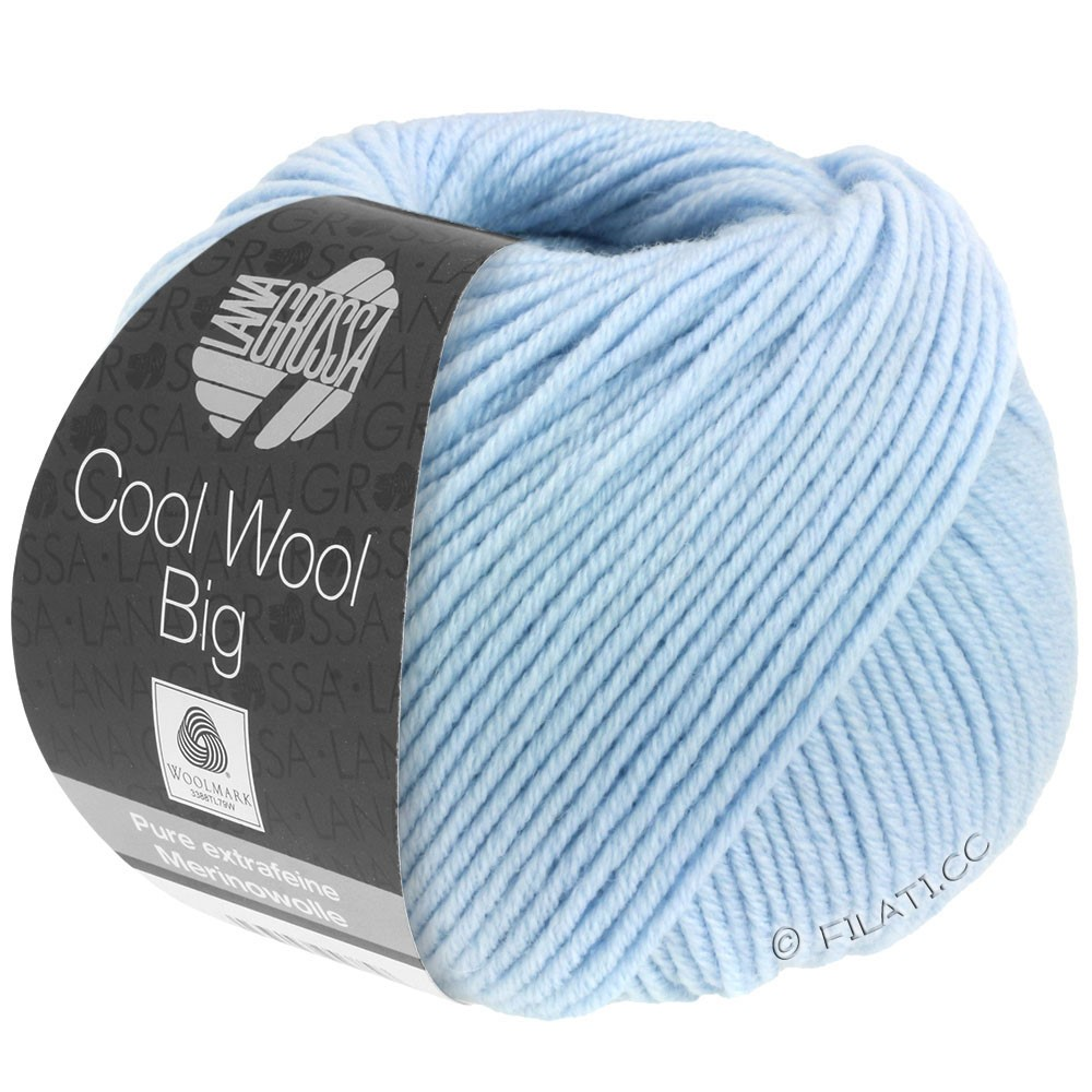 Lana Grossa COOL WOOL Big  Uni/Melange/Print | 0604-light blue