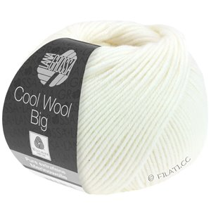 Lana Grossa COOL WOOL Big  Uni/Melange | 0615-white