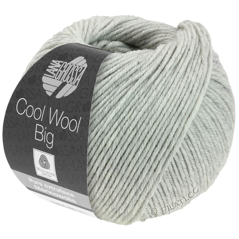 Lana Grossa COOL WOOL Big Uni/Melange/Print   0616-light gray mottled