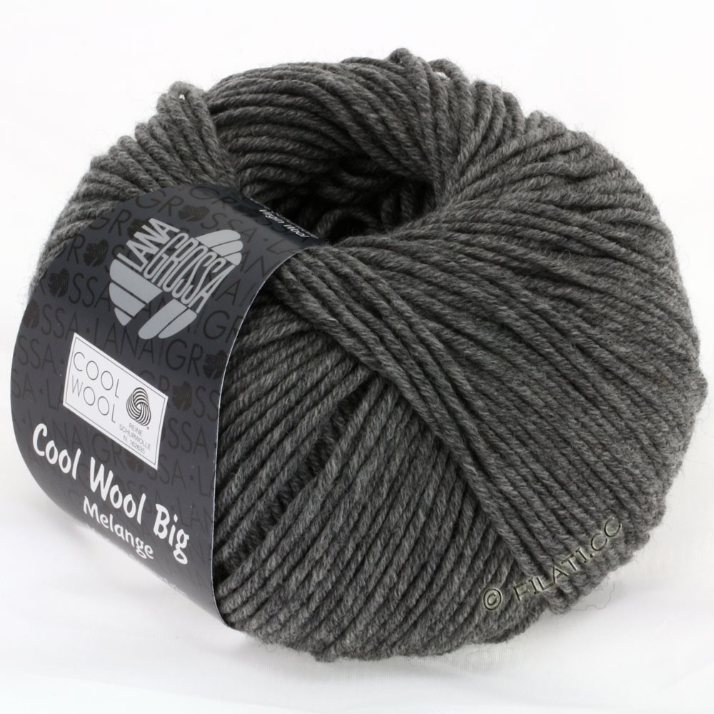 Lana Grossa COOL WOOL Big Uni/Melange/Print   0617-dark gray mottled