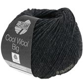Lana Grossa COOL WOOL big uni/melange | 618-anthracite