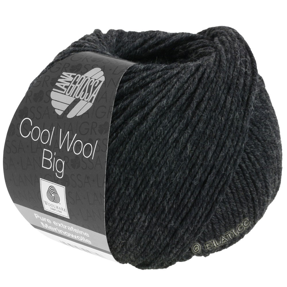 Lana Grossa COOL WOOL Big  Uni/Melange/Print | 0618-anthracite