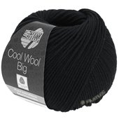 Lana Grossa COOL WOOL big uni/melange | 627-black