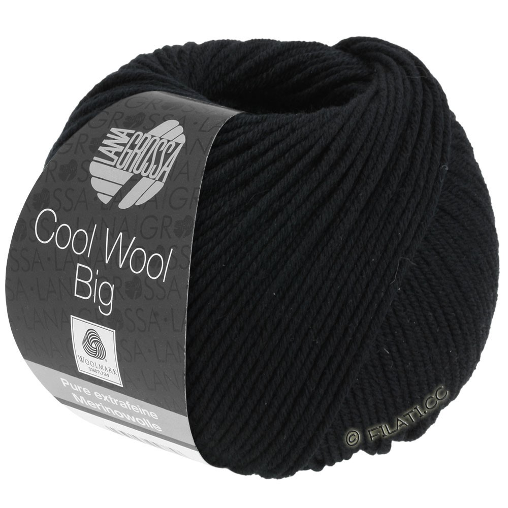 Lana Grossa COOL WOOL Big  Uni/Melange/Print | 0627-black