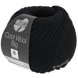Lana Grossa COOL WOOL Big  Uni/Melange | 0627-black