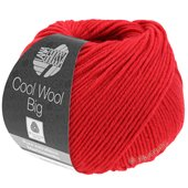 Lana Grossa COOL WOOL big uni/melange | 648-carmine