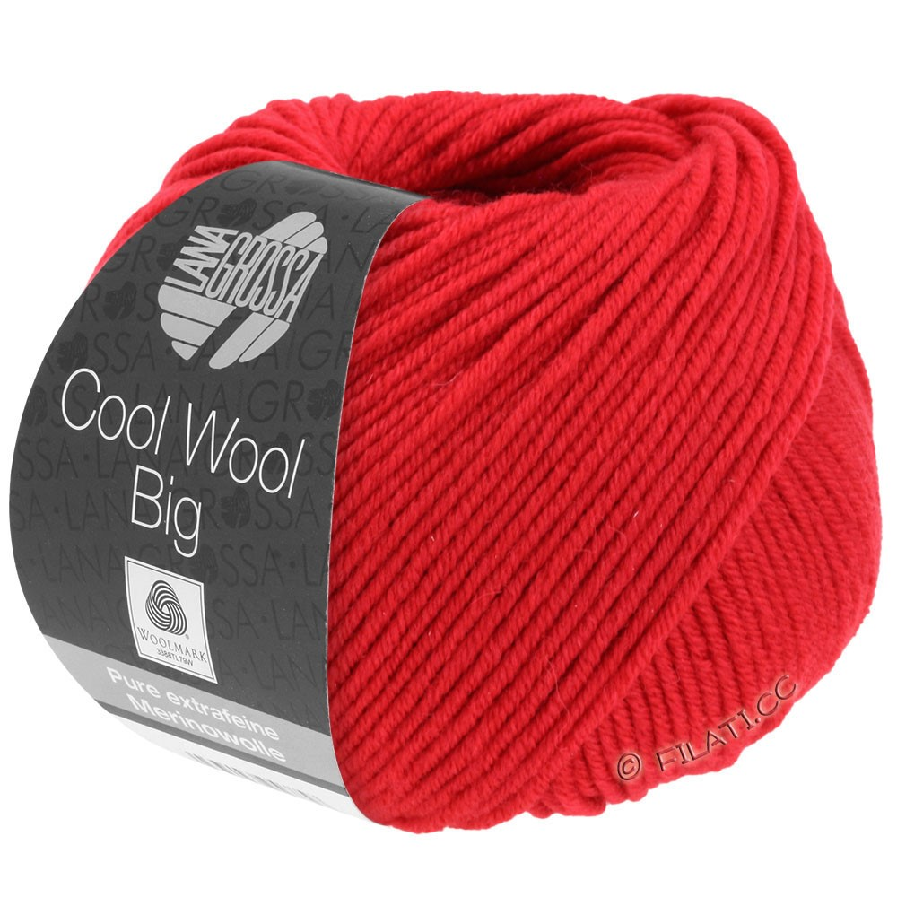 Lana Grossa COOL WOOL Big  Uni/Melange/Print | 0648-carmine red