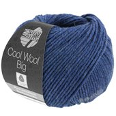Lana Grossa COOL WOOL big uni/melange | 655-Dunkelblau