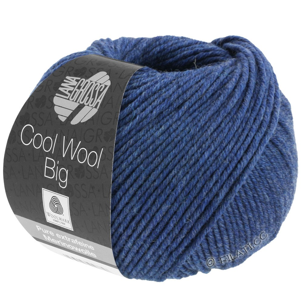 Lana Grossa COOL WOOL Big  Uni/Melange/Print | 0655-dark blue