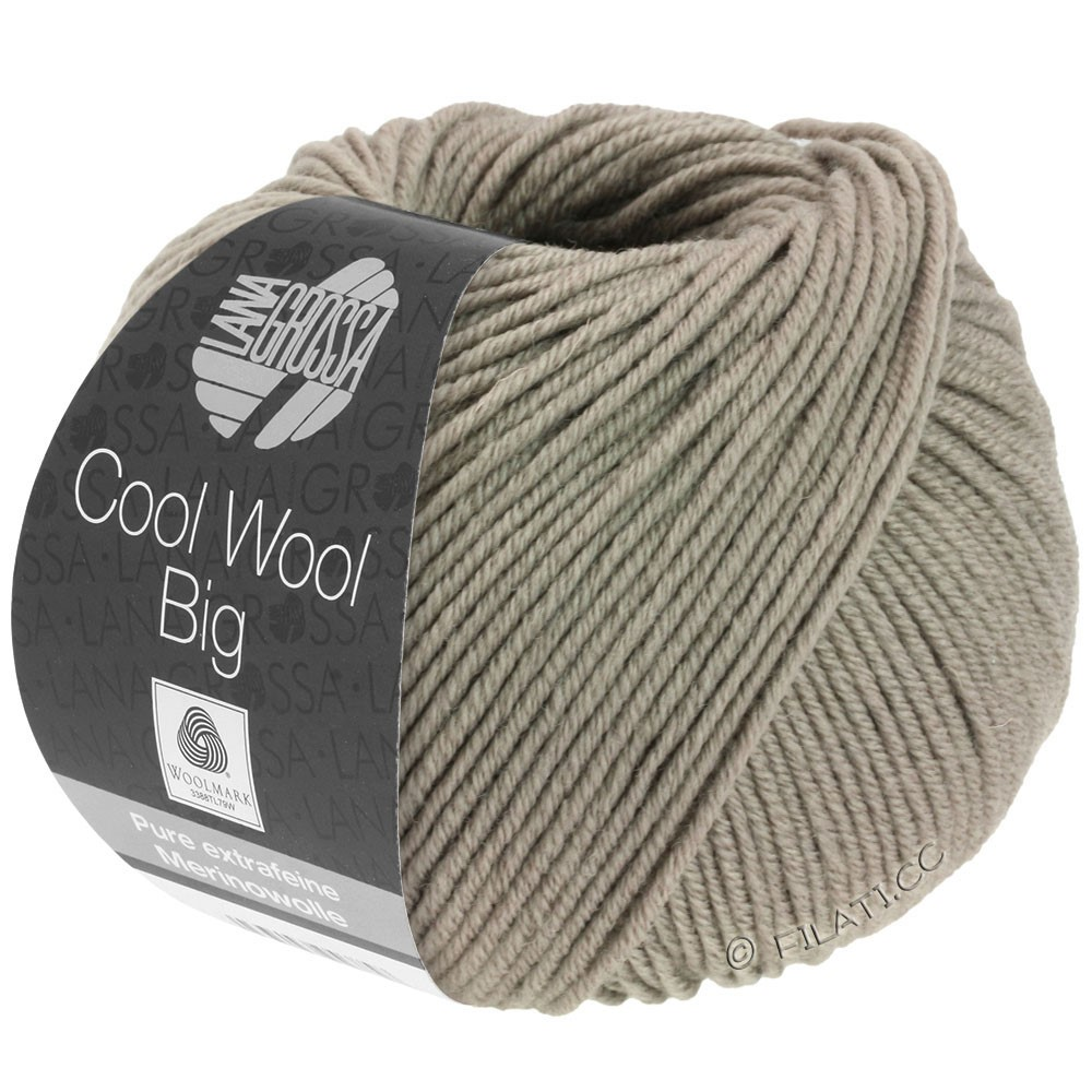 Lana Grossa COOL WOOL big uni/melange | 686-taupe