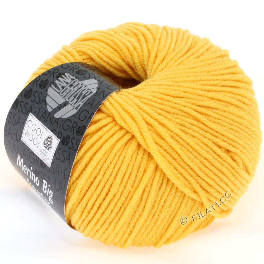 Lana Grossa COOL WOOL big uni/melange | 691-yellow