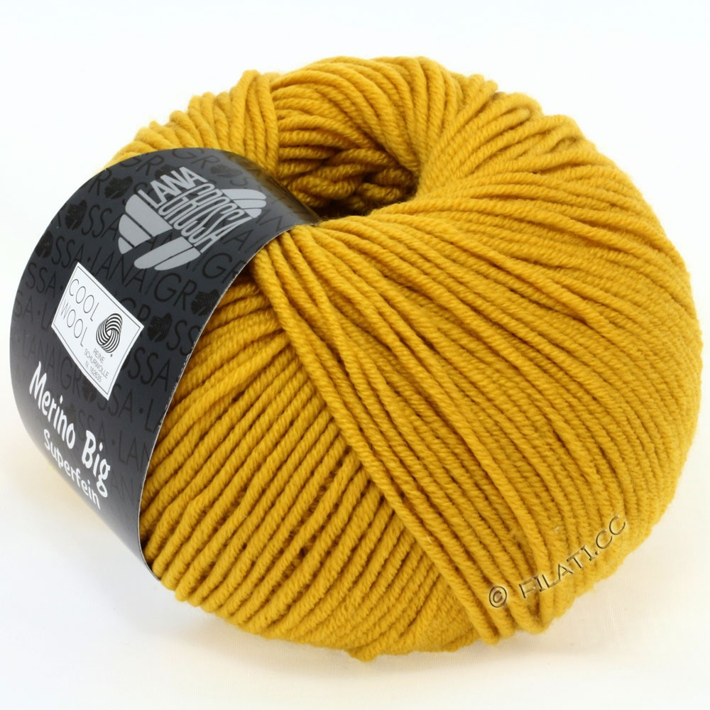 Lana Grossa COOL WOOL Big Uni/Melange/Print | 0903-mustard yellow