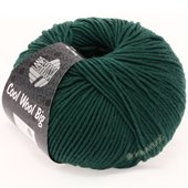 Lana Grossa COOL WOOL big uni/melange | 904-petrol green
