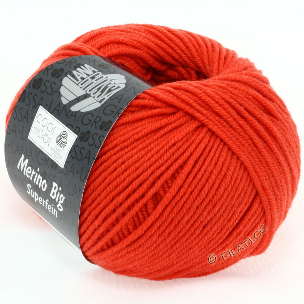 Lana Grossa COOL WOOL big uni/melange | 905-pumpkin