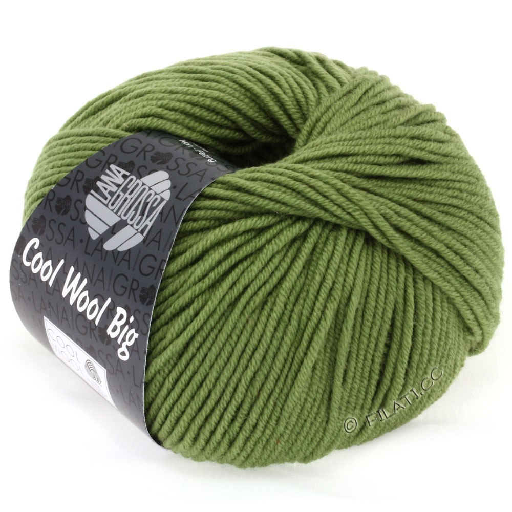 Lana Grossa COOL WOOL big uni/melange/print | 0909-olive green