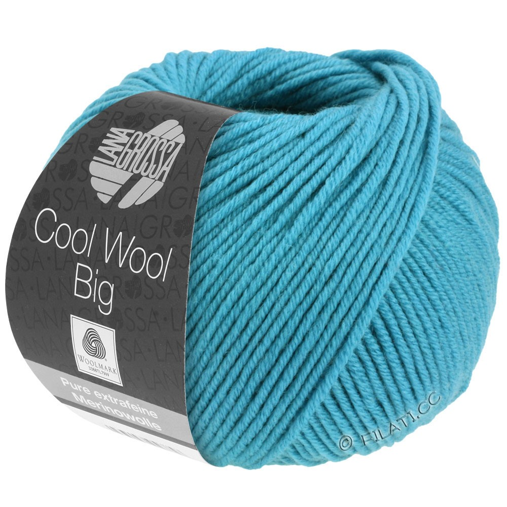 Lana Grossa COOL WOOL big uni/melange | 910-turquoise