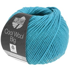 Lana Grossa COOL WOOL Big  Uni/Melange | 0910-turquoise