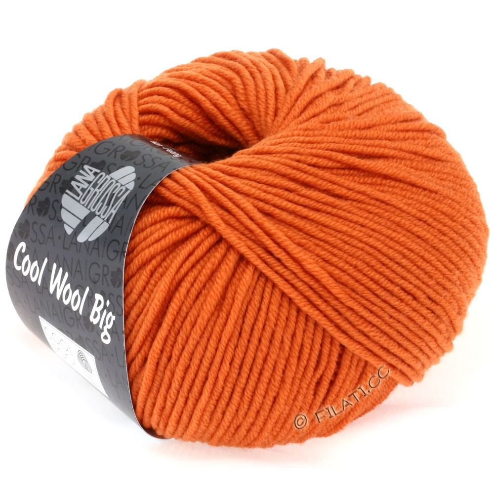 Lana Grossa COOL WOOL big uni/melange/print   0922-orange