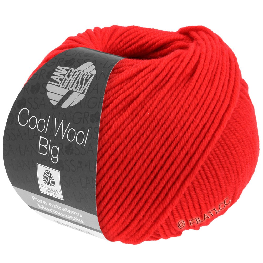 Lana Grossa COOL WOOL Big  Uni/Melange/Print | 0923-luminous red