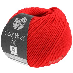 Lana Grossa COOL WOOL Big  Uni/Melange | 0923-luminous red