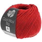 Lana Grossa COOL WOOL big uni/melange | 924-dark red