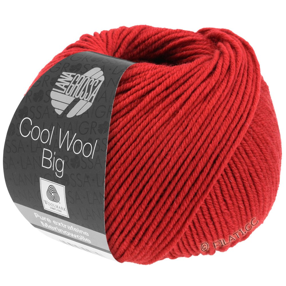 Lana Grossa COOL WOOL Big  Uni/Melange/Print | 0924-dark red