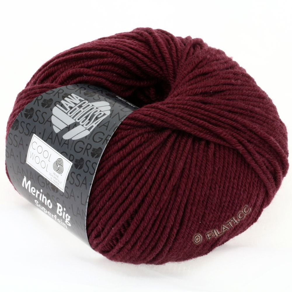 Lana Grossa COOL WOOL big uni/melange | 925-burgundy