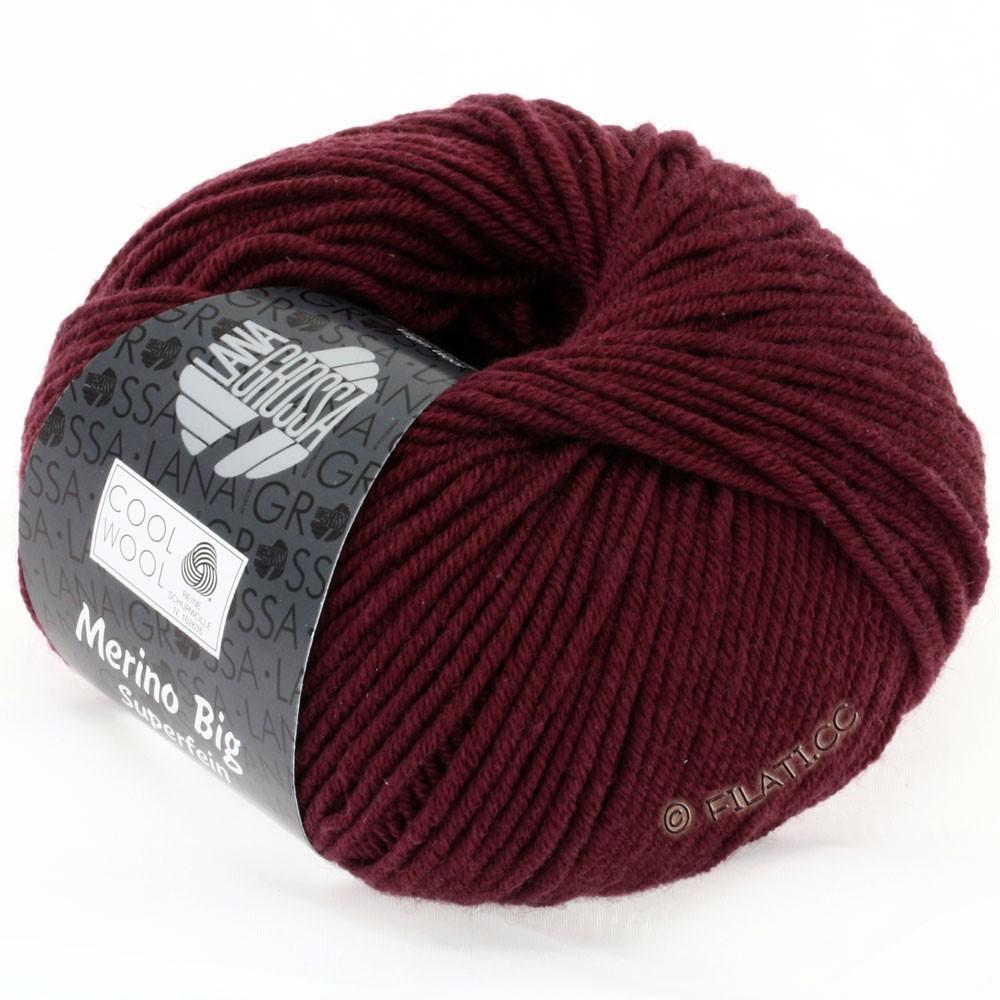 Lana Grossa COOL WOOL big uni/melange/print | 0925-burgundy