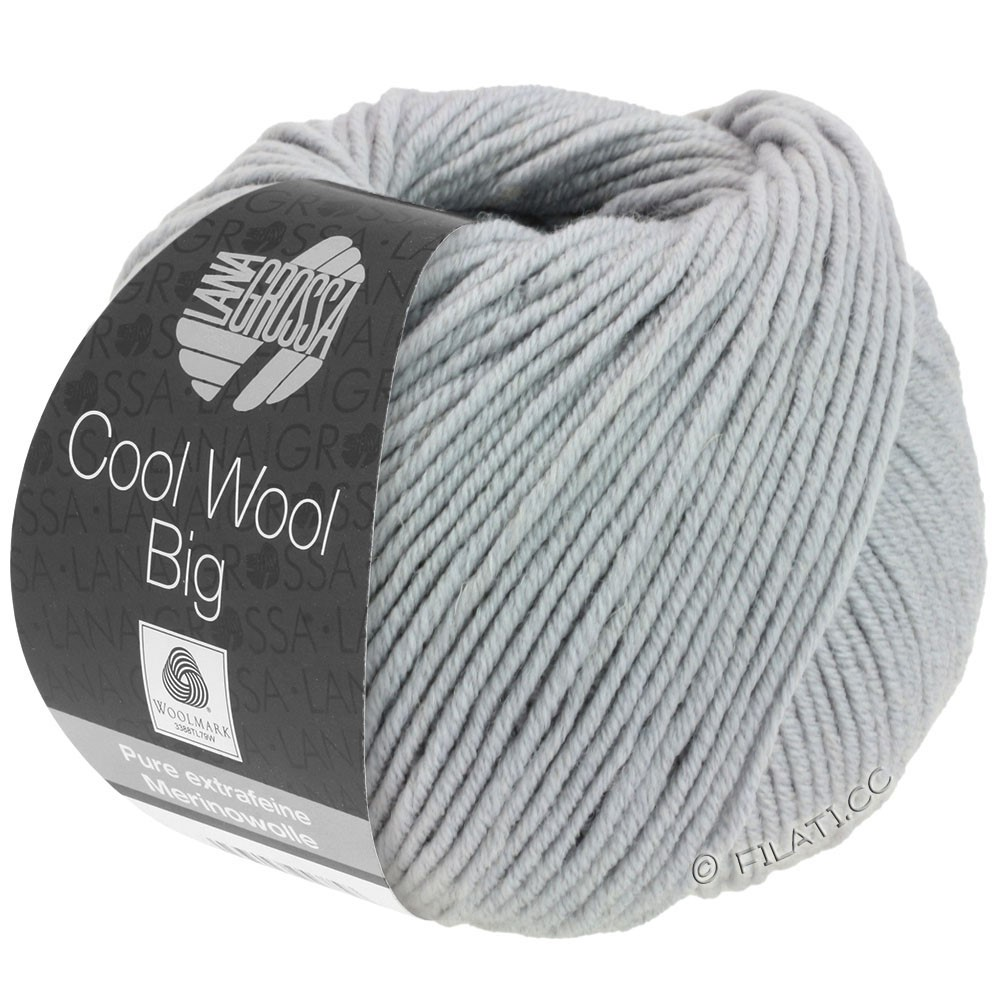 Lana Grossa COOL WOOL big uni/melange | 928-light gray