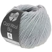 Lana Grossa COOL WOOL big uni/melange | 928-light grey