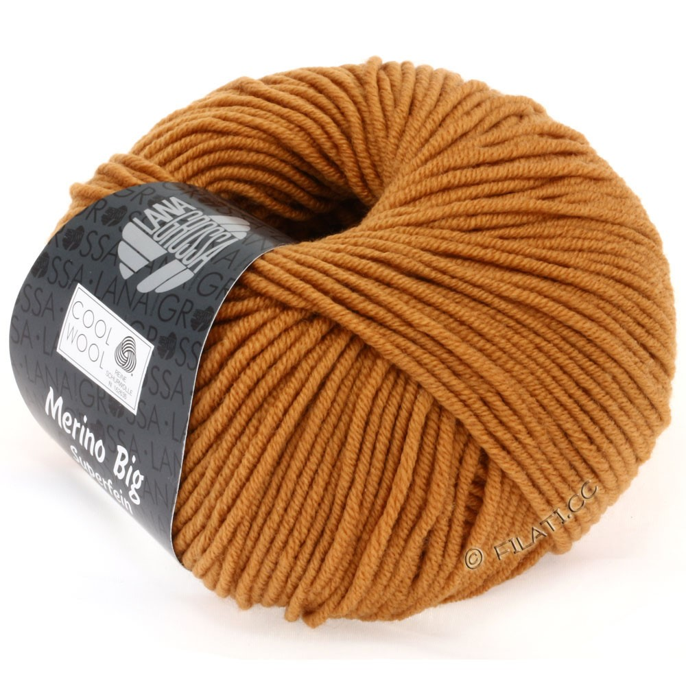 Lana Grossa COOL WOOL big uni/melange | 930-fawn brown