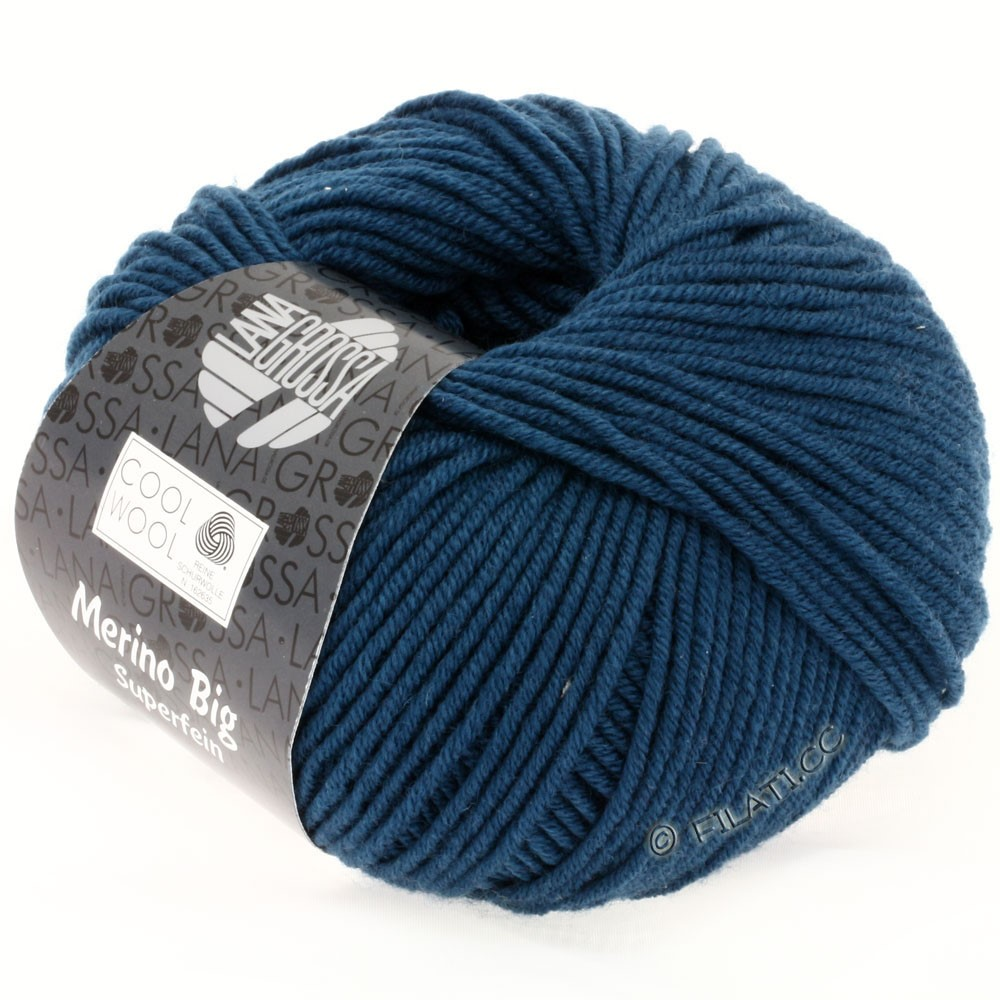 Lana Grossa COOL WOOL big uni/melange/print | 0931-petrol blue