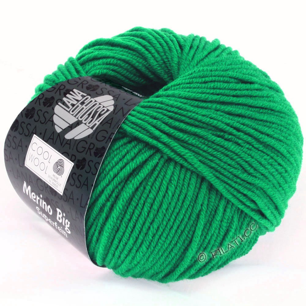 Lana Grossa COOL WOOL big uni/melange/print | 0935-emerald