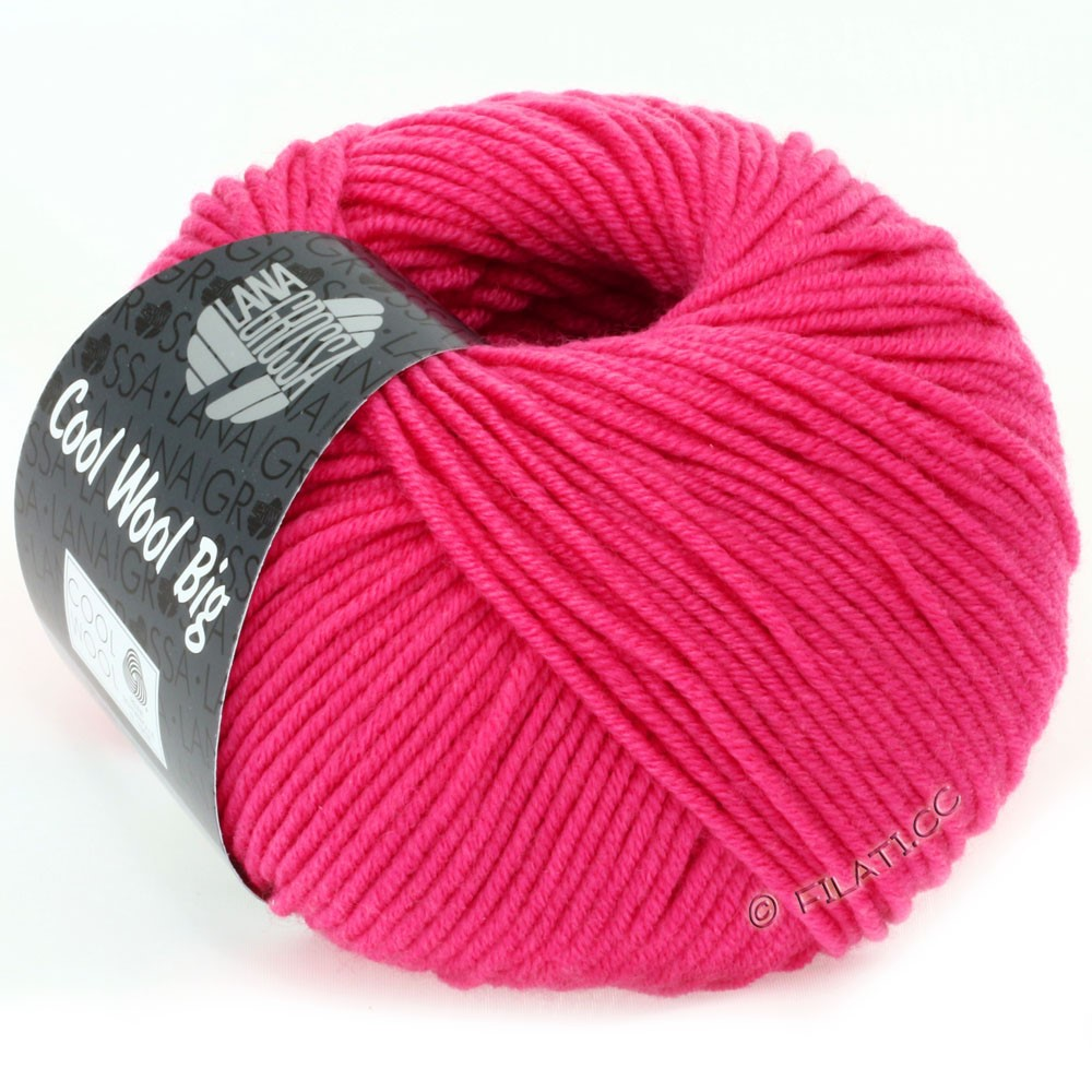 Lana Grossa COOL WOOL big uni/melange/print   0938-pink