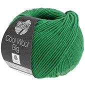 Lana Grossa COOL WOOL big uni/melange | 939-dark green
