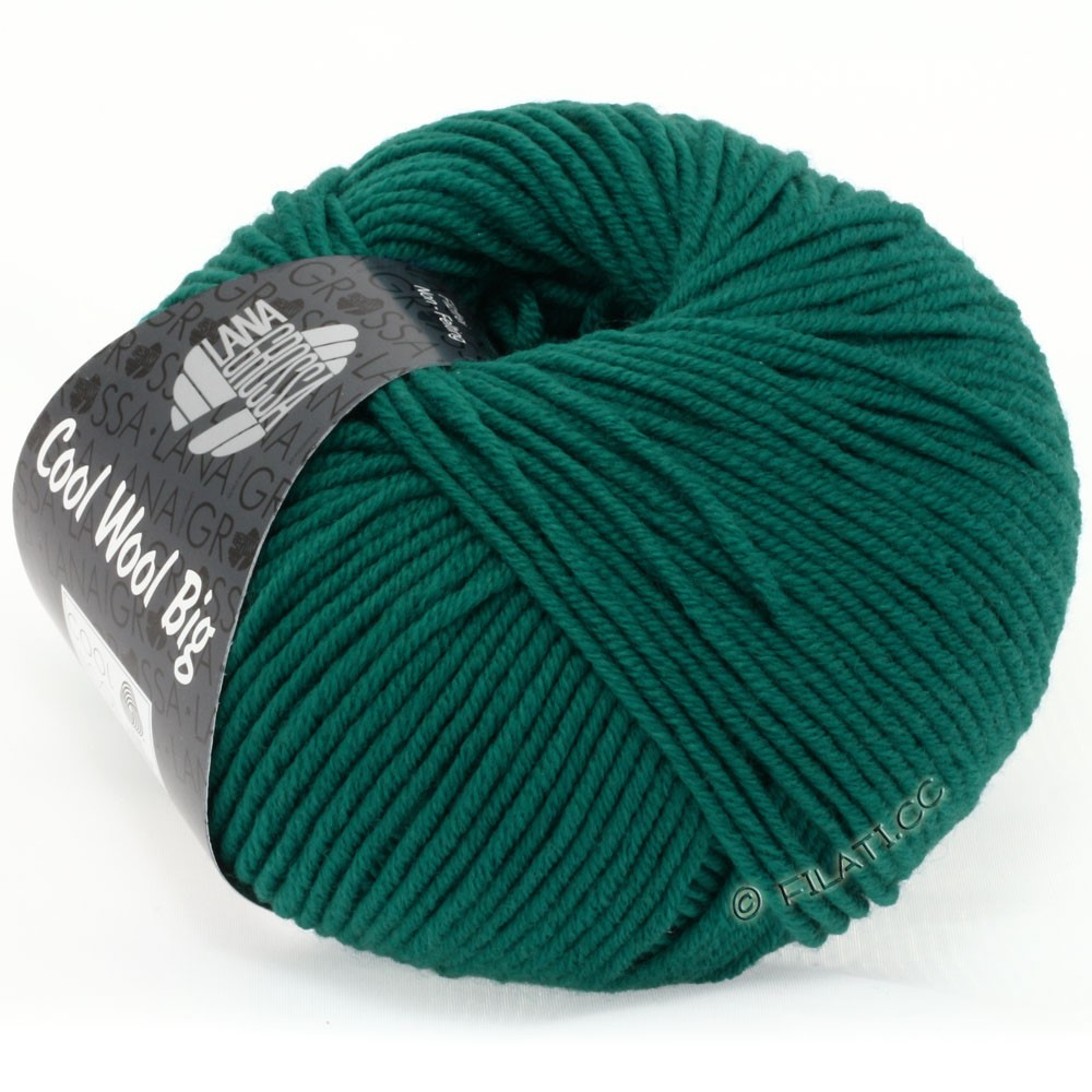 Lana Grossa COOL WOOL big uni/melange | 940-blue green