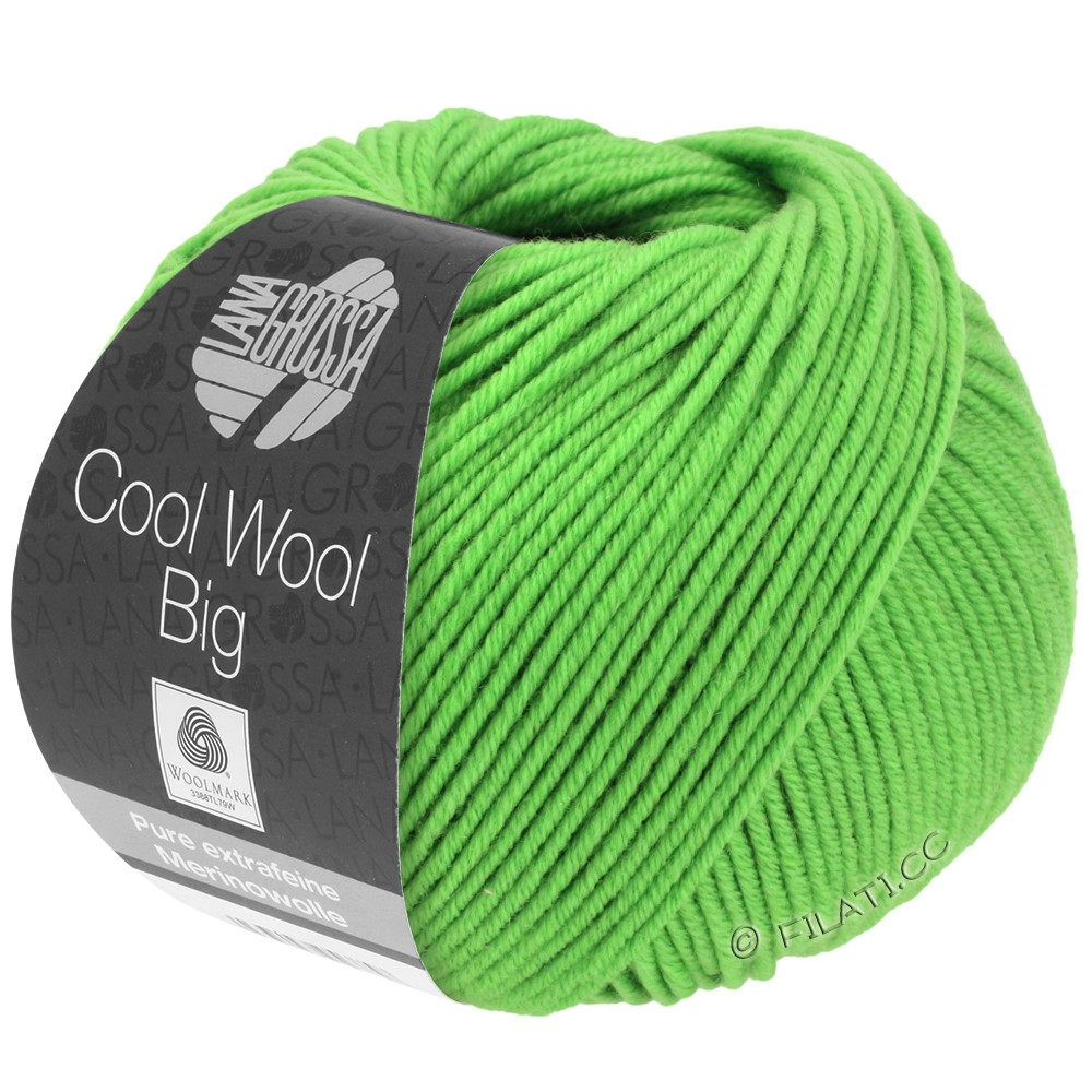 Lana Grossa COOL WOOL Big  Uni/Melange/Print | 0941-light green