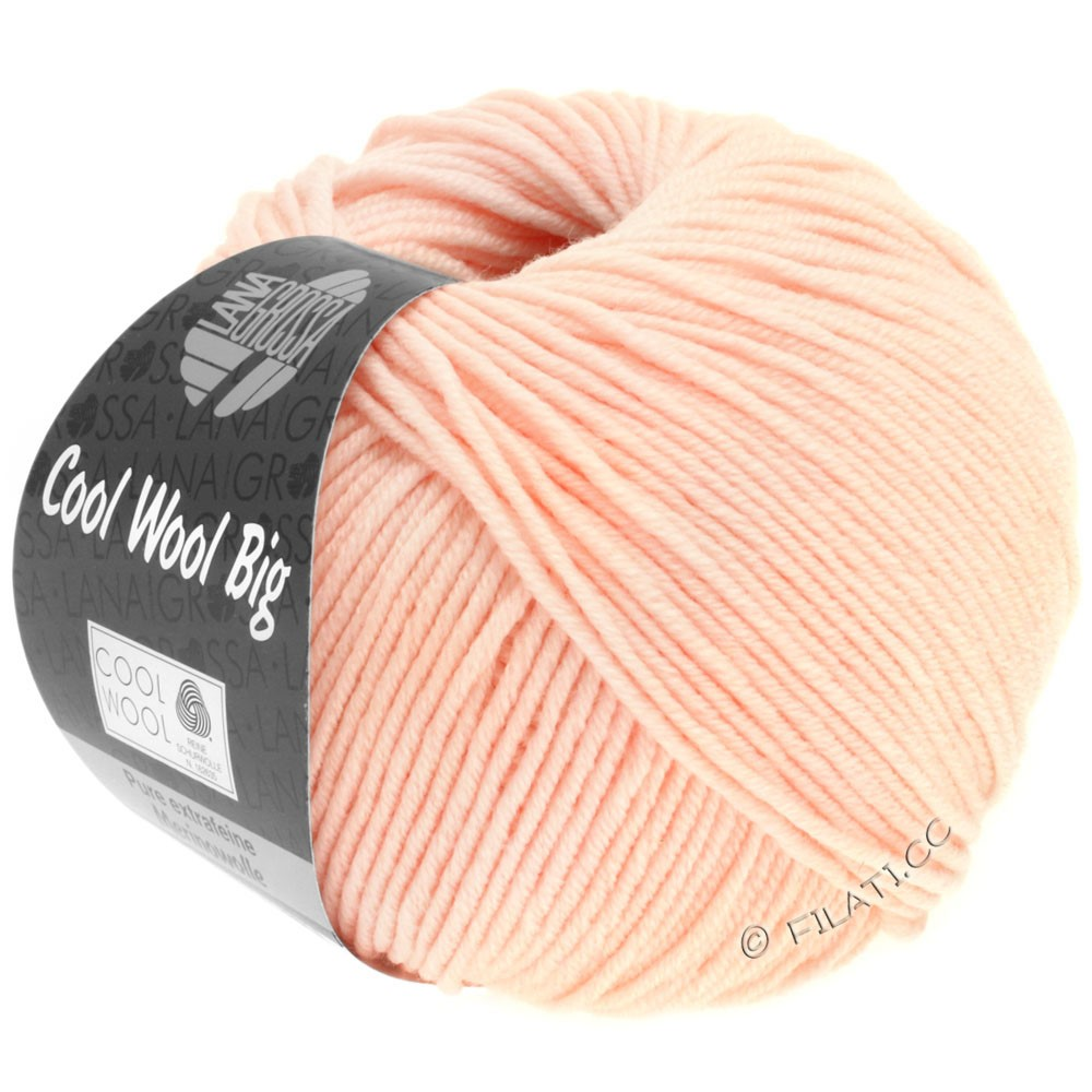 Lana Grossa COOL WOOL big uni/melange/print   0943-pale rose