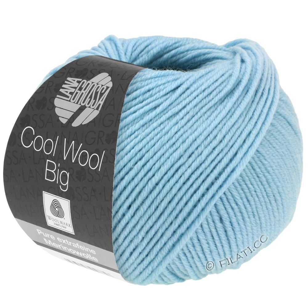 Lana Grossa COOL WOOL big uni/melange/print   0946-sky blue