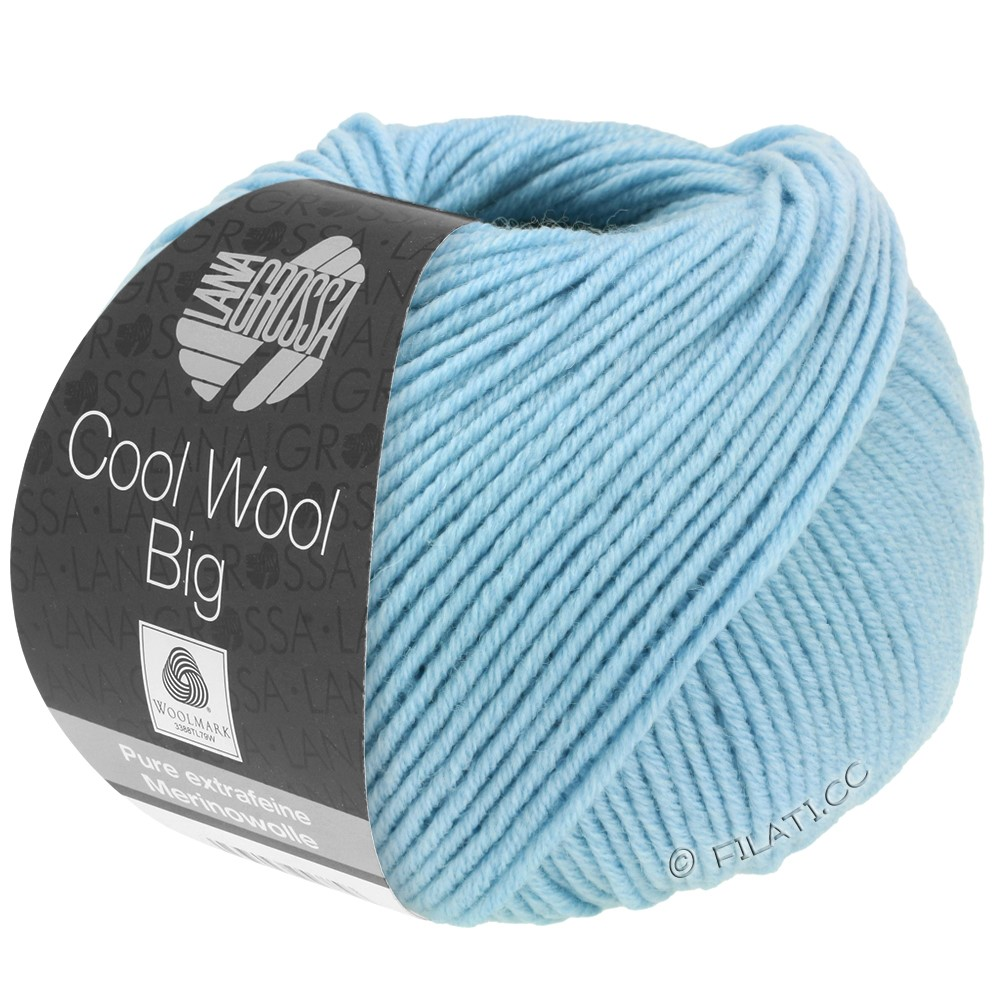 Lana Grossa COOL WOOL Big  Uni/Melange/Print | 0946-sky blue