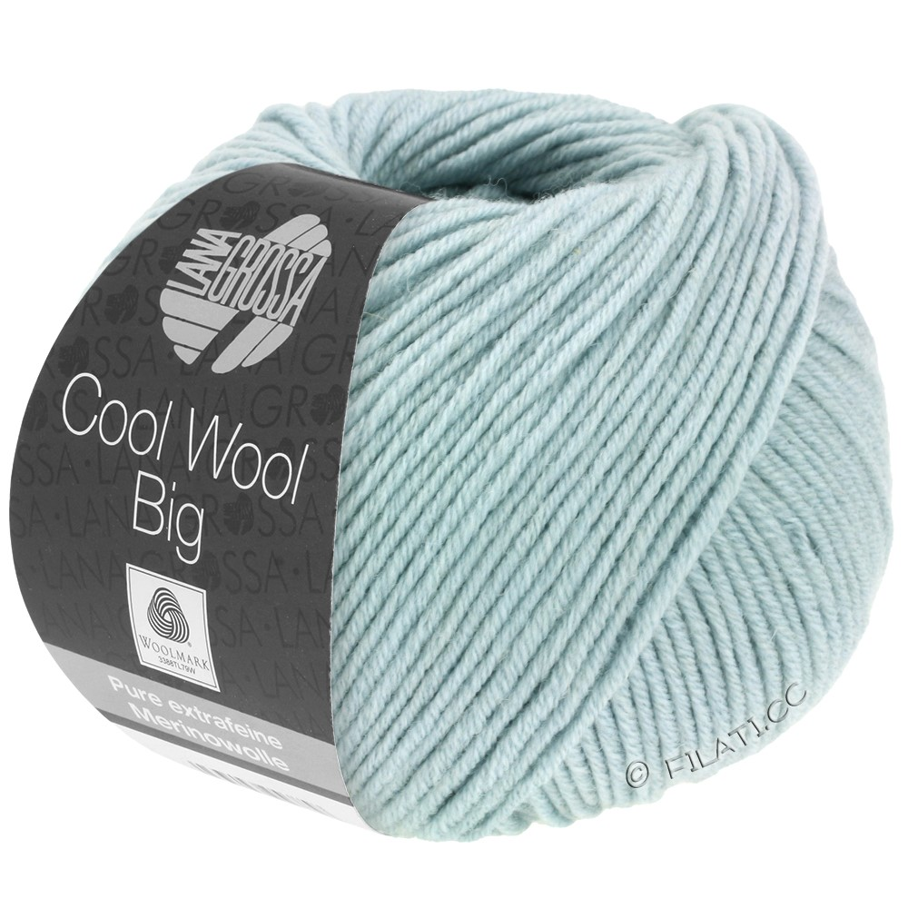 Lana Grossa COOL WOOL Big  Uni/Melange/Print | 0947-mint
