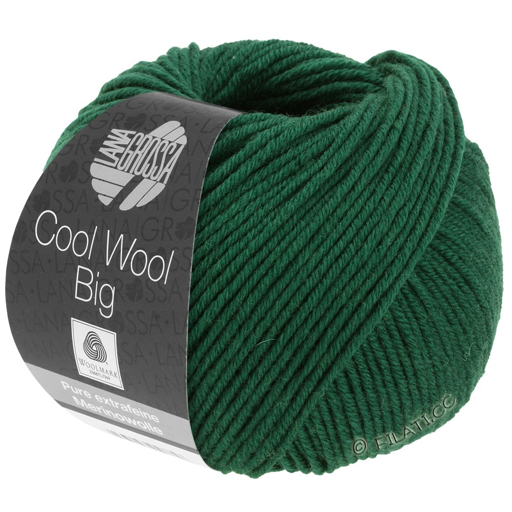 Lana Grossa COOL WOOL Big  Uni/Melange/Print | 0949-bottle green