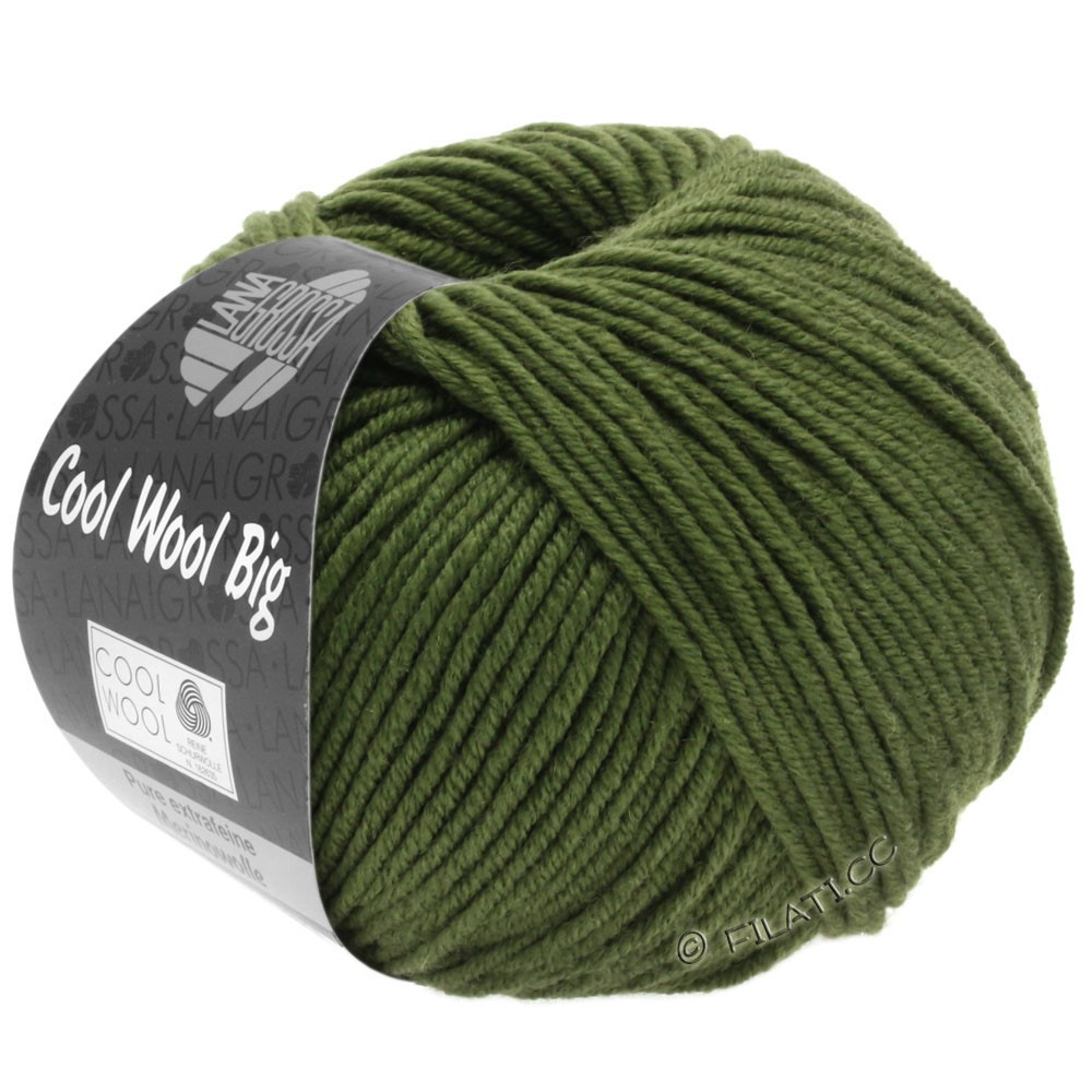 Lana Grossa COOL WOOL Big  Uni/Melange/Print | 0956-dark olive