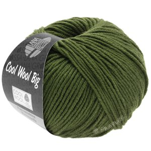 Lana Grossa COOL WOOL Big  Uni/Melange | 0956-dark olive