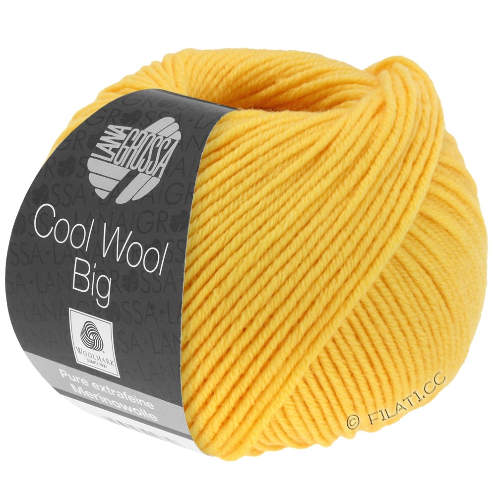 Lana Grossa COOL WOOL Big  Uni/Melange/Print | 0958-sun yellow
