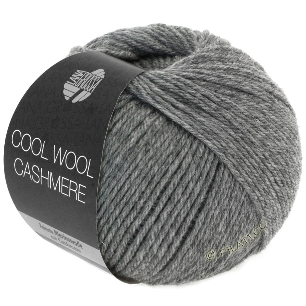 Lana Grossa COOL WOOL Cashmere | 07-darkgray mottled