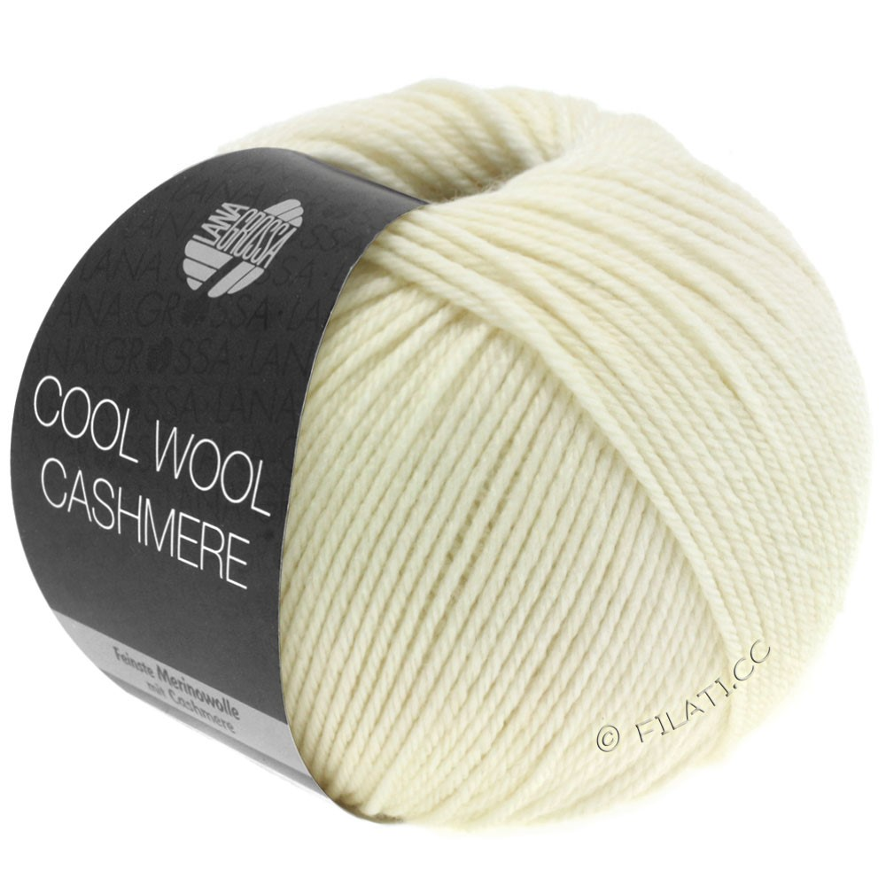 Lana Grossa COOL WOOL Cashmere | 12-raw white