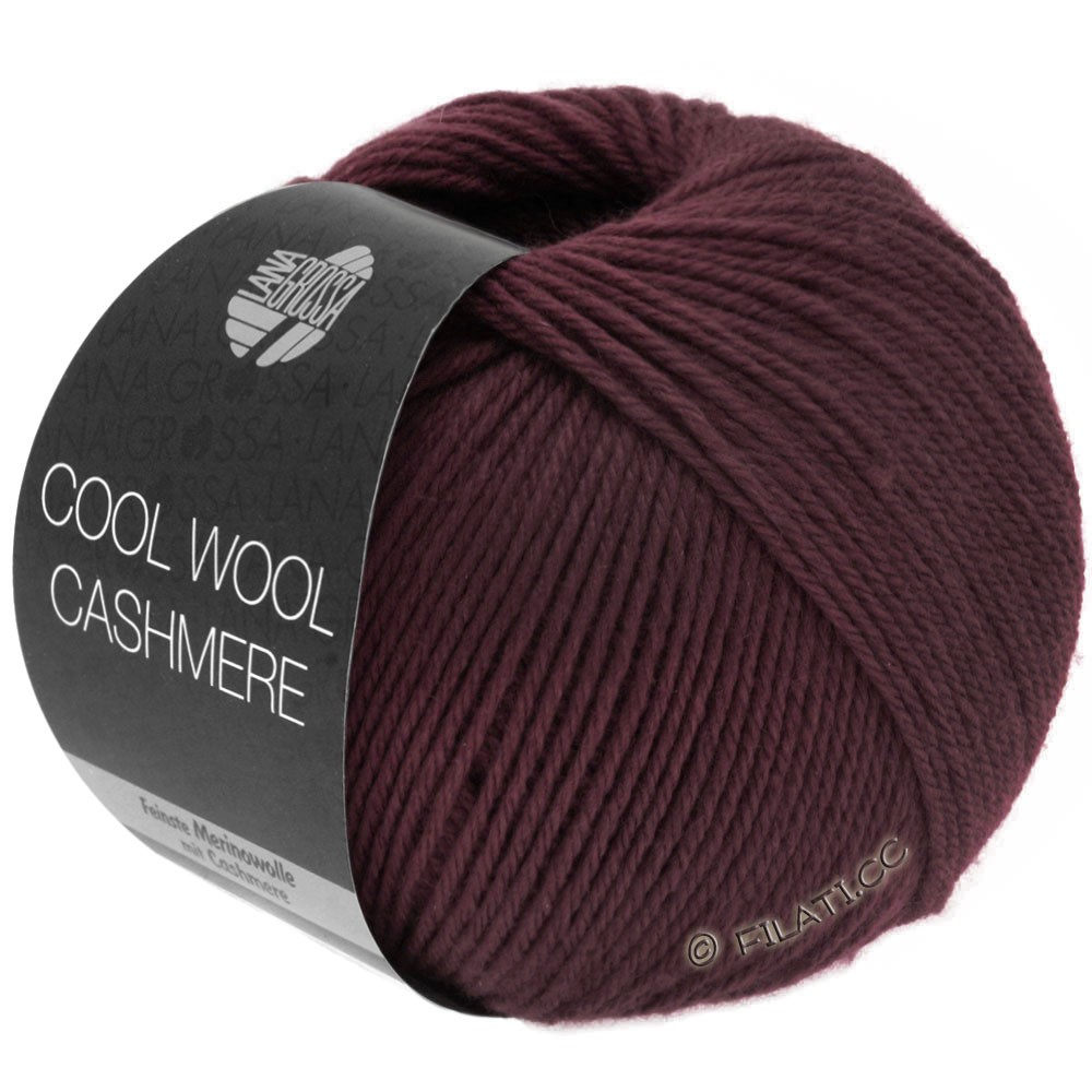 Lana Grossa COOL WOOL Cashmere | 20-burgundy