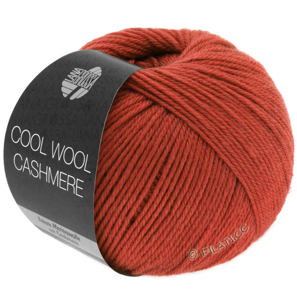 Lana Grossa COOL WOOL Cashmere | 21-brick red